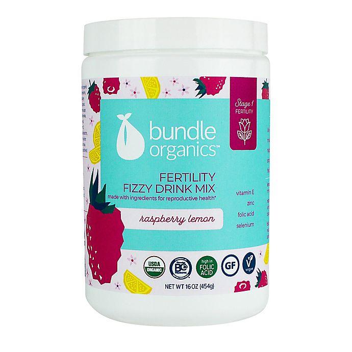 Alternate image 1 for Bundle Organics™ 16 oz. Raspberry Lemon Fertility Fizzy Drink Mix
