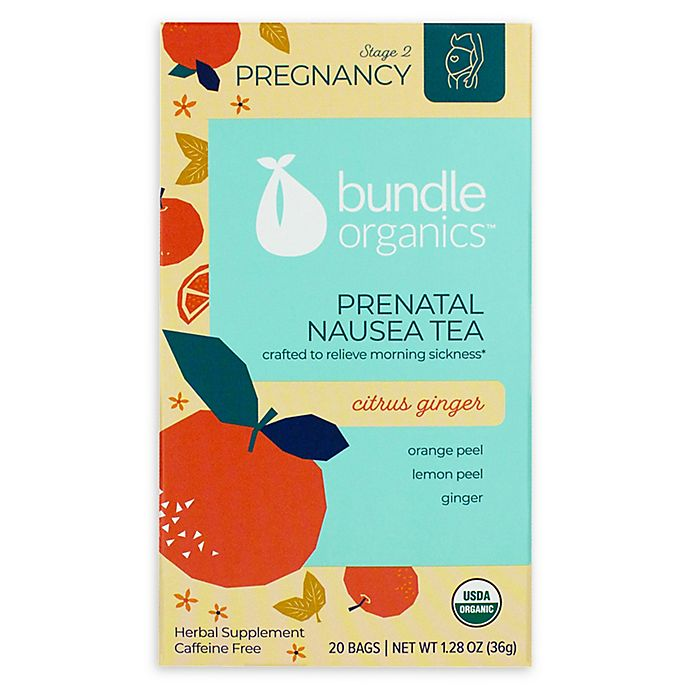Alternate image 1 for Bundle Organics™ 20-Count Citrus Ginger Prenatal Nausea Relief Tea