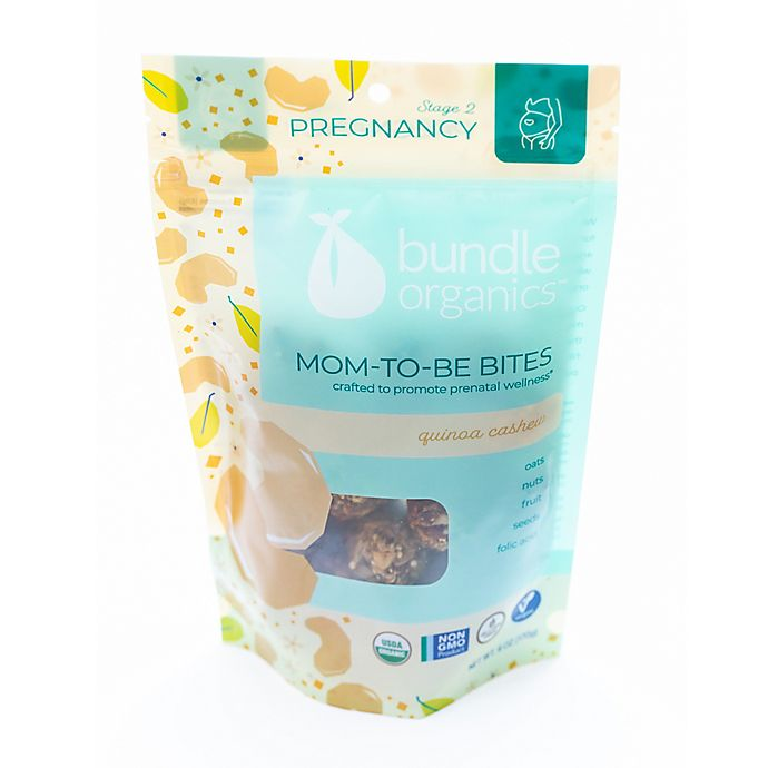 Alternate image 1 for Bundle Organics™ 6 oz. Quinoa Cashew Pregnancy Mom-To-Be Bites