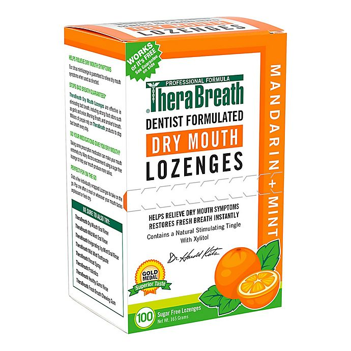 Alternate image 1 for Dr. Katz TheraBreath® 100-Count Mouth Wetting Fresh Breath Lozenges in Mandarin Mint