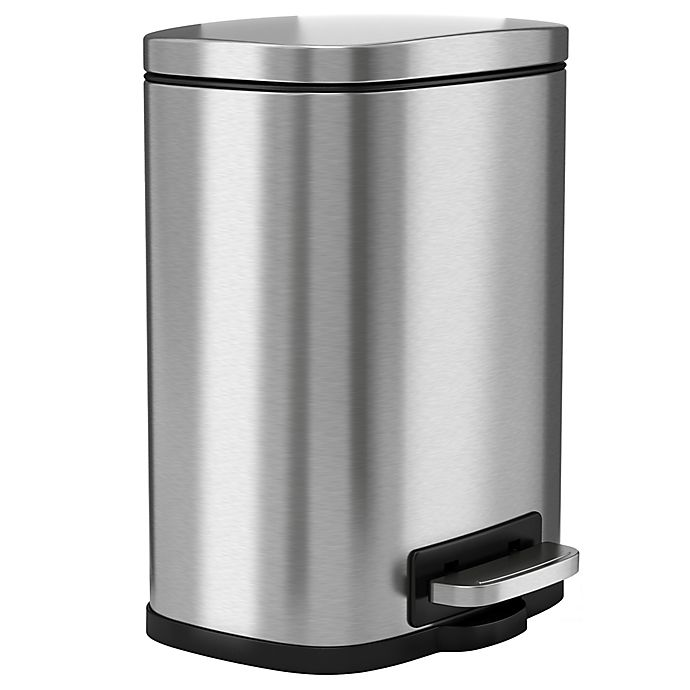 Alternate image 1 for halo Premium Stainless Steel 1.32-Gallon Step Can