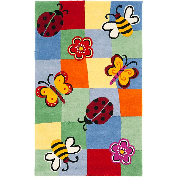Alternate image 1 for Safavieh Kids Garden Critters Multicolor Rug