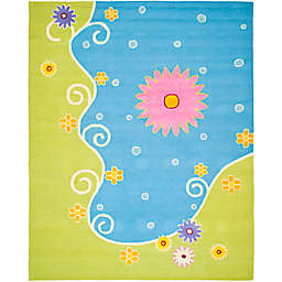 Safavieh Kids® Land and Sea Rug in Blue/Green