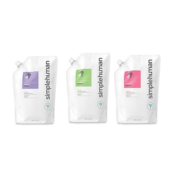 Alternate image 1 for simplehuman® Moisturizing Liquid Hand Soap 34 oz. Refill Pouch Collection