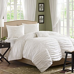 Madison Park Delancey 4-Piece Comforter Set in White