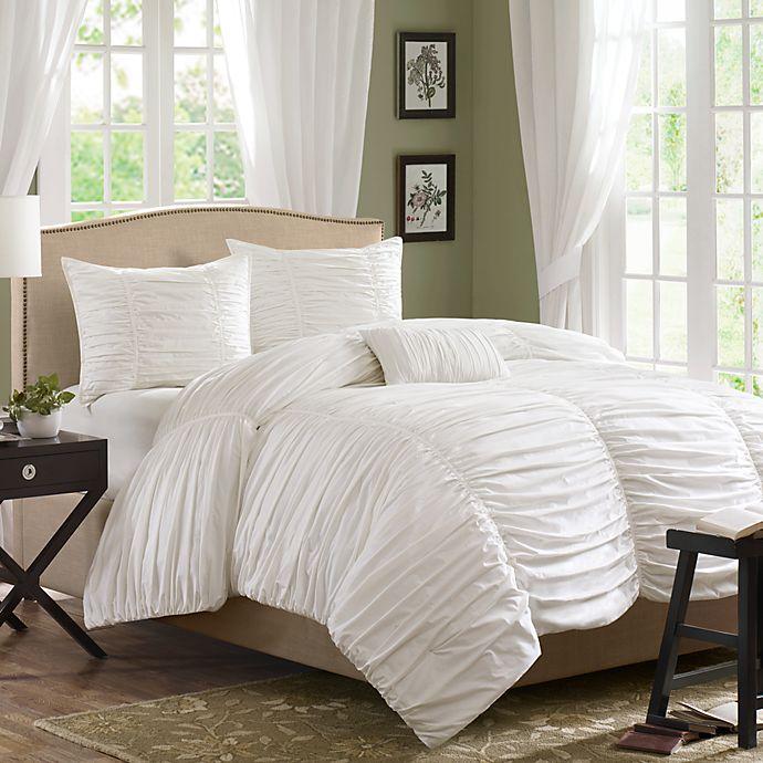 Alternate image 1 for Madison Park Delancey Comforter Set in White