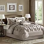 Madison Park Laurel 7-Piece King Comforter Set in Taupe