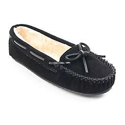 Minnetonka® Cally Size 10 Women's Slippers in Black