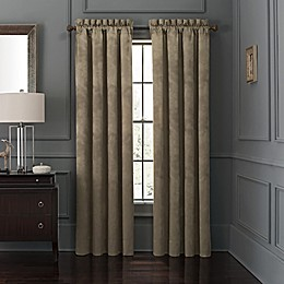 Waterford® Amarah 84-Inch Rod Pocket Window Curtain Panel Pair in Taupe