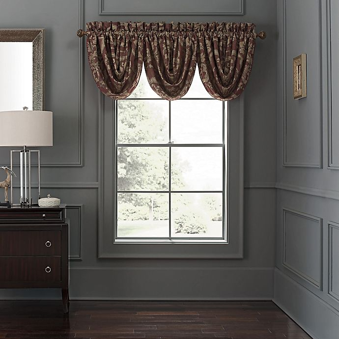 Waterford 174 Amarah Scalloped Valance In Cabernet Bed Bath