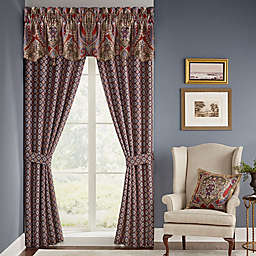 Croscillreg Margaux Rod Pocket Window Curtain Panel Pair In Red Blue