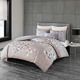 N Natori® Sakura Blossom Printed Duvet Cover Set