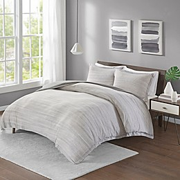 Urban Habitat Space Dyed Jersey Knit Duvet Cover Set