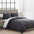 Essex Full/Queen Comforter Set in Charcoal