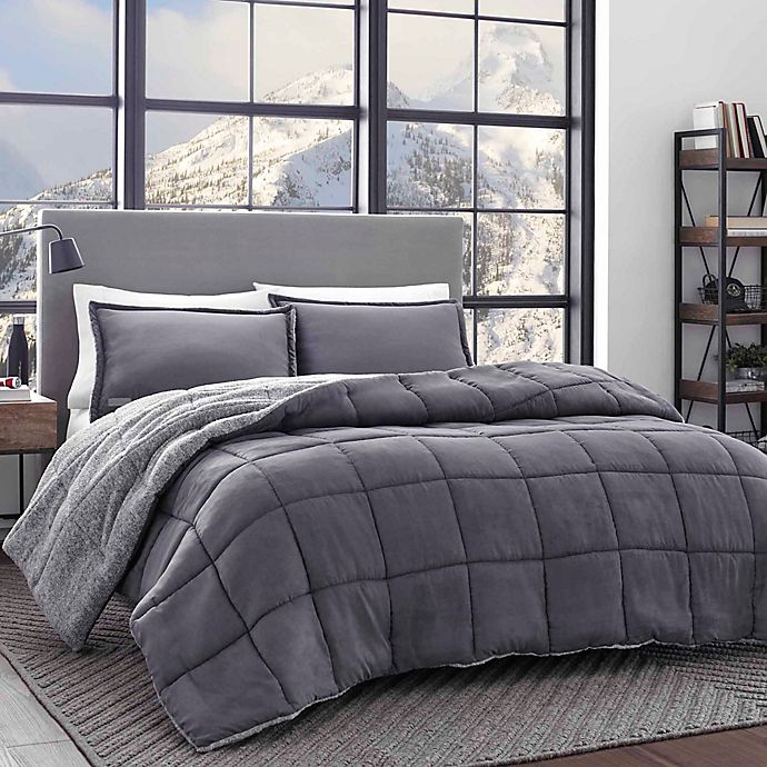 Alternate image 1 for Eddie Bauer® Sherwood Reversible Comforter Set in Grey