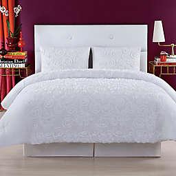 Christian Siriano NY® Pretty Petals Twin XL Comforter Set in White