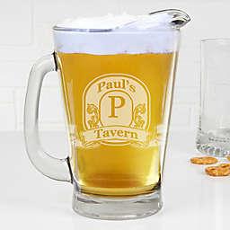 Vintage Bar Sign Personalized Deep Etch Beer Pitcher