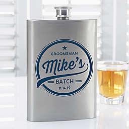 Groomsmen Brewing Co. Personalized Flask