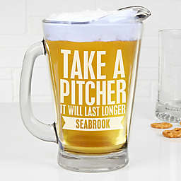 Beer Quotes Personalized Deep Etch Beer Pitcher