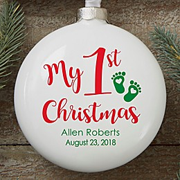 """""""My 1st Christmas"""" Baby Ornament"""