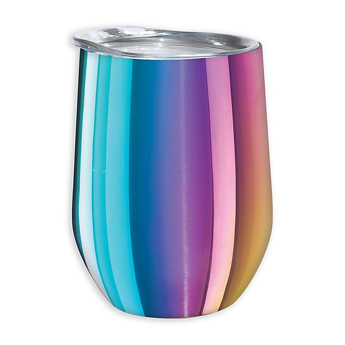 Alternate image 1 for Oggi™ Cheers™ Stainless Steel Wine Tumbler in Rainbow