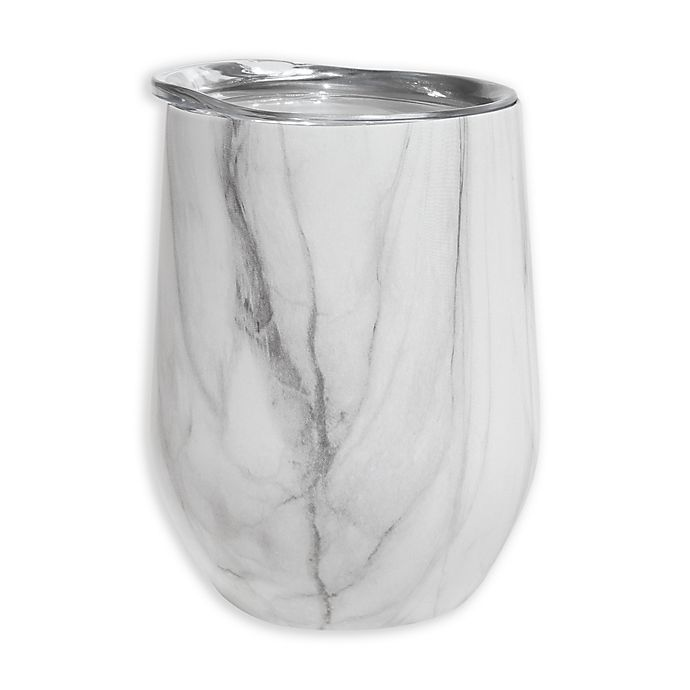 Alternate image 1 for Oggi™ Cheers™ Stainless Steel Wine Tumbler in Marble