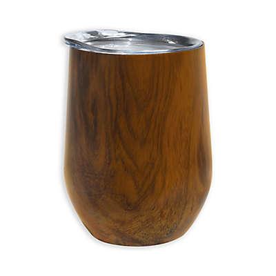 Oggi™ Cheers™ Stainless Steel Wine Tumbler in Wood