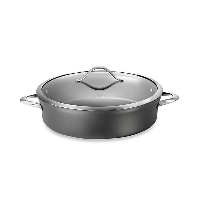 Alternate image 1 for Calphalon® Contemporary Nonstick 7-Quart Covered Sauteuse Pan