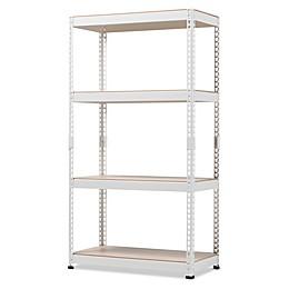 Baxton Studio Cody 4-Shelf Multipurpose Metal Storage
