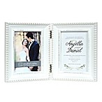 Prinz Hinged Woodland Wedding 5-Inch x 7-Inch Photo Frame in White