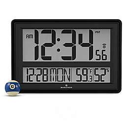 Jumbo Atomic Digital Clock in Grey