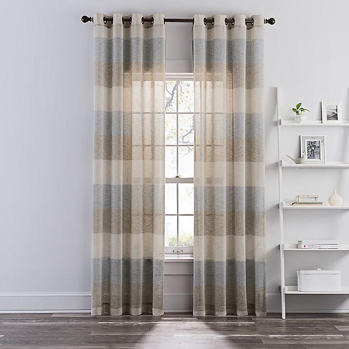 Grommet Sheer Window Curtain Panel