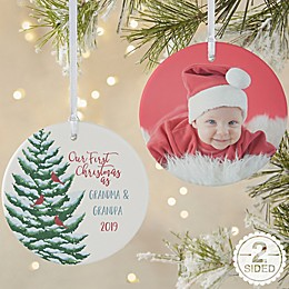 Grandparent's 1st Christmas Personalized Ornament