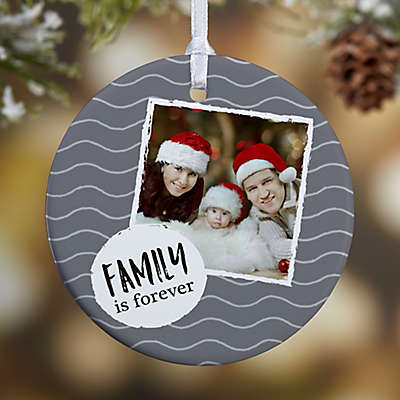 1-Sided Glossy Photo Message Personalized Christmas Ornament