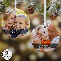 2-Sided Glossy Precious Photo Message Personalized Ornament