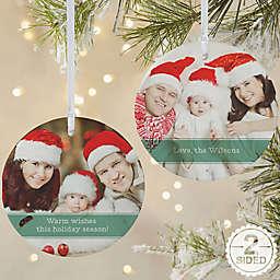 Precious Photo Message Personalized Ornament