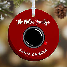 1-Sided Glossy Santa Cam Personalized Ornament-Small