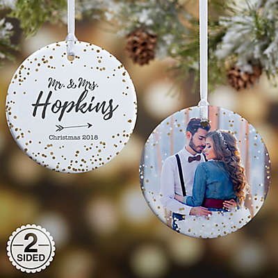 2-Sided Glossy Sparkling Love Personalized Ornament- Small