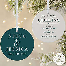 All About the Big Day Personalized Ornament
