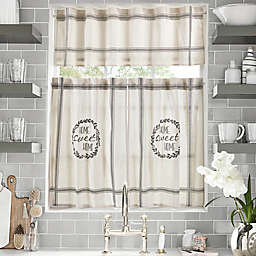 Home Sweet Home Kitchen Window Curtain Tiers and Valance