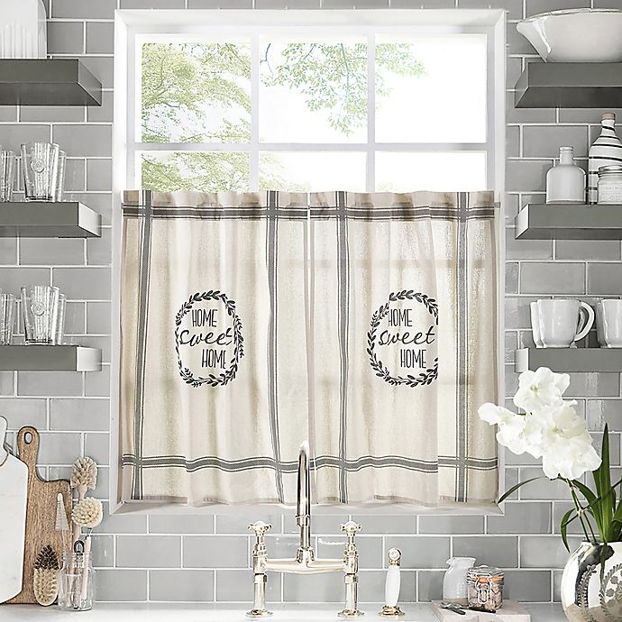 Home Sweet Home Kitchen Window Curtain Tier Pair Bed