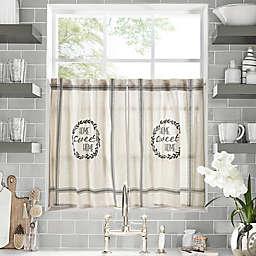 Home Sweet Kitchen Window Curtain Tier Pair