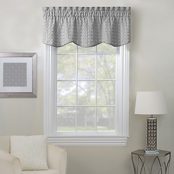 Alternate image 1 for Rings Embroidered Window Valance