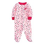 Nike® Size 3M Printed Logo Footed Coverall in Pink