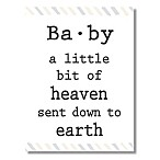 """Baby a Little Bit of Heaven"" 6-Inch x 4.5-Inch Wood Wall Art"