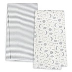 Gerber® 4-Pack Clouds Flannel Blankets in Grey
