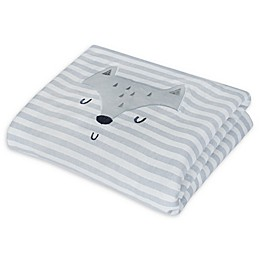 Gerber® Fox Animal Face Organic Cotton Blanket in Grey