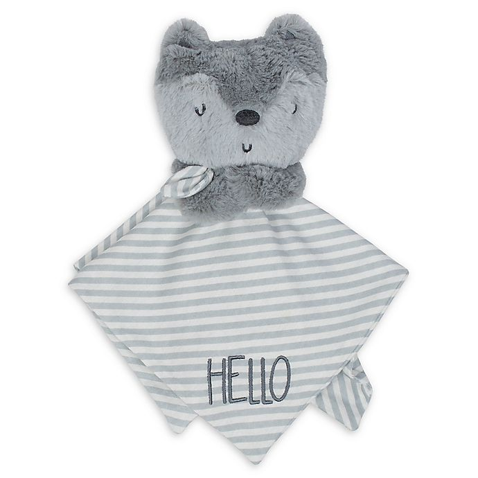 Alternate image 1 for Gerber® Fox Organic Cotton Security Blanket in Grey