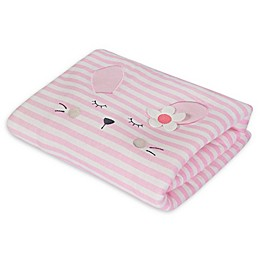Gerber® Bunny Animal Face Organic Cotton Blanket in Pink