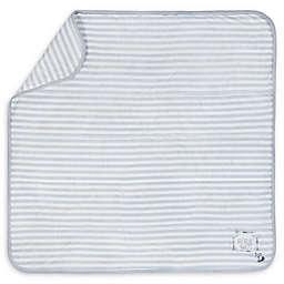 "Gerber® Striped ""Adventure Awaits"" Organic Cotton Blanket in Grey/Ivory"